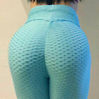 Womens Anti-Cellulite Yoga Pants Leggings Push Up Ruched Sports Gym Trousers CY3