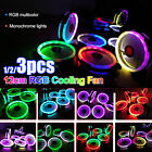 5 Pack RGB LED Quiet Computer Case PC Cooling Fan 120mm w/1 Remote Control