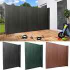 Pvc Screen Fence Fencing Garden Privacy Panel Wind Sunshade Panels + Fitting Set