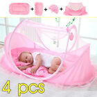 Baby Mosquito Nets Bedding Crib Folding Infant Cot Tent Bed Mat Portable  USA