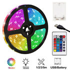 1-3m Usb Led Strip Lights Battery Operated Controller Color Change Home Decor