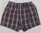 Ralph Lauren Classic Fit Red Green Plaid Boxer Shorts Blue Pony NWT