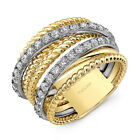 Fashion Men/women's Punk Silver Stainless Steel Ring Wide Band Jewelry Size 5-11