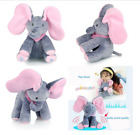 Peek-a-boo Music Elephant Baby Plush Toy Stuffed Animated Singing Doll Baby Gift