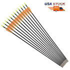 6/12x Archery Arrows 28'' Youth Fiberglass Hunting Arrows Target Practice