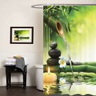 Waterproof Polyester Fabric Bamboo Printed Home Bathroom Shower Curtain Decor