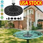 Outdoor Solar Fountain Powered Water Pump Bird Bath Pond Floating Garden Pool US
