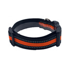 Reflective dog collar waterproof Adjustable safety dog collar metal D ring