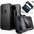 For Samsung Galaxy A21 Case Shockproof Stand Belt Clip Holster Armor Phone Cover