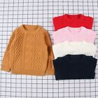 Toddler Baby Girl Boy Knitted Top Clothes Sweater Solid Sewing Cardigan
