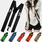 New Unisex Elastic Y-Shape Braces Men's Women's Adjustable Clip-on Suspenders