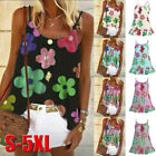 Fashion Women Summer Floral Print Sleeveless O-Neck Vest Camisole Blouses Tops