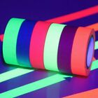 Neon Gaffer Glow in The Dark Tape Lot UV Reactive Fluorescent Cloth Tape Hone