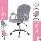 Executive Office Chair Adjustable Height Comfy Padded Swivel Chair Mid Back