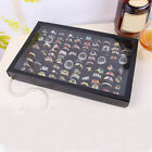 100 Slots Ring Storage Display Box with Transparent Lid ~ Ring Holder Showcase