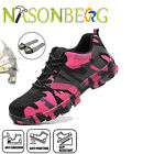 Women's Girls Work Safety Shoes Steel Toe Boots Indestructible Breathable Light