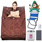 Personal Steam Sauna Spa Detox Weightloss in Home Chair Included Relaxation USA