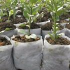 Round Fabric Seedling Pot Plant Nursery Pouch Root Containr Grow Bag 100pcs