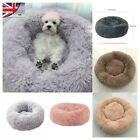 UK Comfy Dog/Cat Bed Marshmallow Calming Soft Round Super Plush Pet Bed Cat Bed