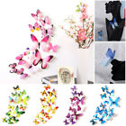 12pcs 3d Butterflies Wall Sticker Stickers For Home Wall Room Decor Girl Bedroom