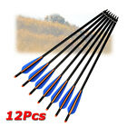 "12Pcs 16-22"" Aluminum Crossbow Archery Arrows Target Tips for Hunting Shooting"
