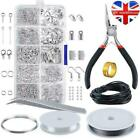 Earring Jewellery Making Kit Wire Findings Pliers Starter Tools Necklace Repair