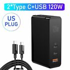 Baseus 120W GaN Wall Charger Laptop Phone QC 4.0 Adapter for Samsung MacBook Pro