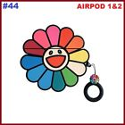 AIRPODS 1&2 Cute 3D Cartoon Silicone Case Protective Charging Cover Keychain USA
