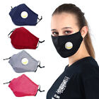 Cotton Face Mask Protective Covering Washable Reusable Unisex + 1x PM 2.5 Filter