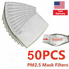 50 PCs Face Mouth Mask PM2.5 Filter Insert Activated Carbon 5 Layer Replacement
