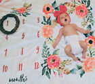 Baby Newborn Monthly Growth Milestone Blanket Photography Prop Background Cloth7
