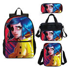 Coraline Cool Girls Backpack Insulated Lunch Box Shoulder Bag Pen Case Gifts Lot