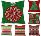 Xmas throw pillow covers, Christmas tree/snowflake red/green sofa cushion cover