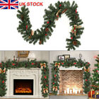 6FT Christmas Garland Pine Cone Xmas Fireplace Decoration Artificial Wreath New