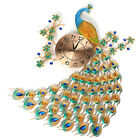 AUG 3D Diamond Peacock Wall Clock Metal Watch Home Living For Room Decora-US