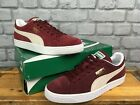 PUMA MENS CLASSIC SUEDE BURGUNDY TRAINERS RRP £55 VARIOUS SIZES LADIES T