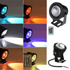 Waterproof 12V RGB LED 16 Colours Changing Garden Square Pond Pool Light +Remote