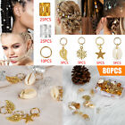 80/160 Hair Jewelry Rings Decor Dreadlock Bead Braiding Pendant Cuff Accessories