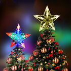 Xmas Ornament Christmas Tree Topper LED Light Up Star Tree Top Party Decor US