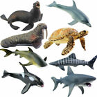 Kids Toy Plastic Sea Animals Ocean Shark Dolphin Whale Model Figures Gift