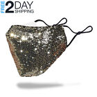 Sequin Glitter Face Mask Fashion Bling Sparkly Washable Face Cover Women