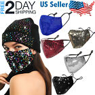 Kyпить Sequin Glitter Face Mask Fashion Bling Sparkly Washable Face Cover Women на еВаy.соm
