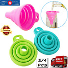 Silicone Collapsible Funnel Food Grade Flexible for Liquid Powder Transfer Oil