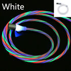 US LED Flowing Magnetic USB Cable For iPhone 6 7 8 11 Type-C Micro-USB 1M 2M Lot
