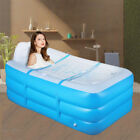 Portable Folding Inflatable Bathtub Blowup Adult Home SPA Shower Pool 59x33