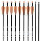 "12x 26/28/30"" Archery Carbon Arrows for Compound Recurve Bow Hunting Shooting US"