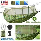 600lbs Load 2 Persons Hammock Camping Hiking Hanging Bed Mosquito Net Tent
