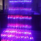 Wedding Background Lights LED Waterfall Curtain Icicle Multi-colors Warm / White
