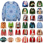 Mens Xmas Sweatshirt Jumper Pullover Christmas Ugly 3D Funny Casual Tops Blouses