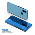 For Xiaomi POCO X3 NFC Redmi Note 9S 9A 9C 7A 4X Smart Leather Flip Mirror Case